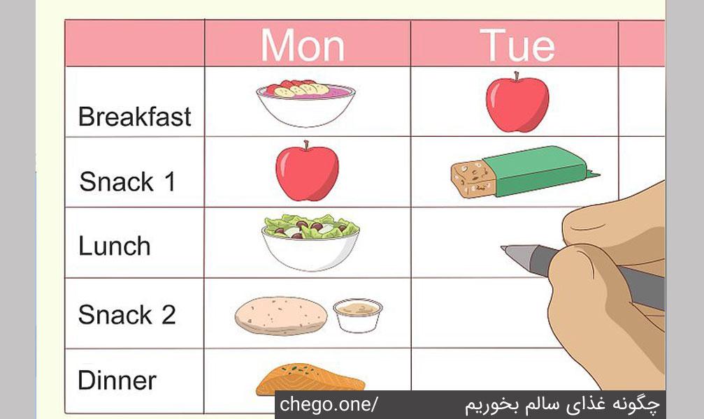 وعده های غذایی خود را از قبل برنامه ریزی کنید تا در مسیر درست خود قرار بگیرید