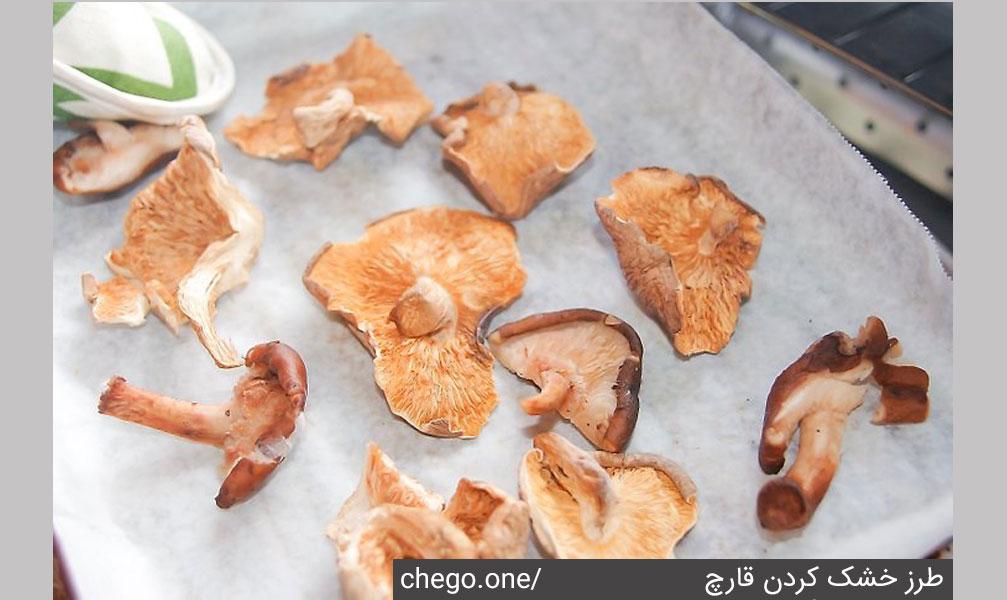 طرزخشک کردن قارچ